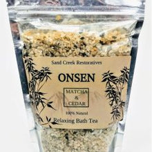 Load image into Gallery viewer, ONSEN Matcha Cedar Bath Tea