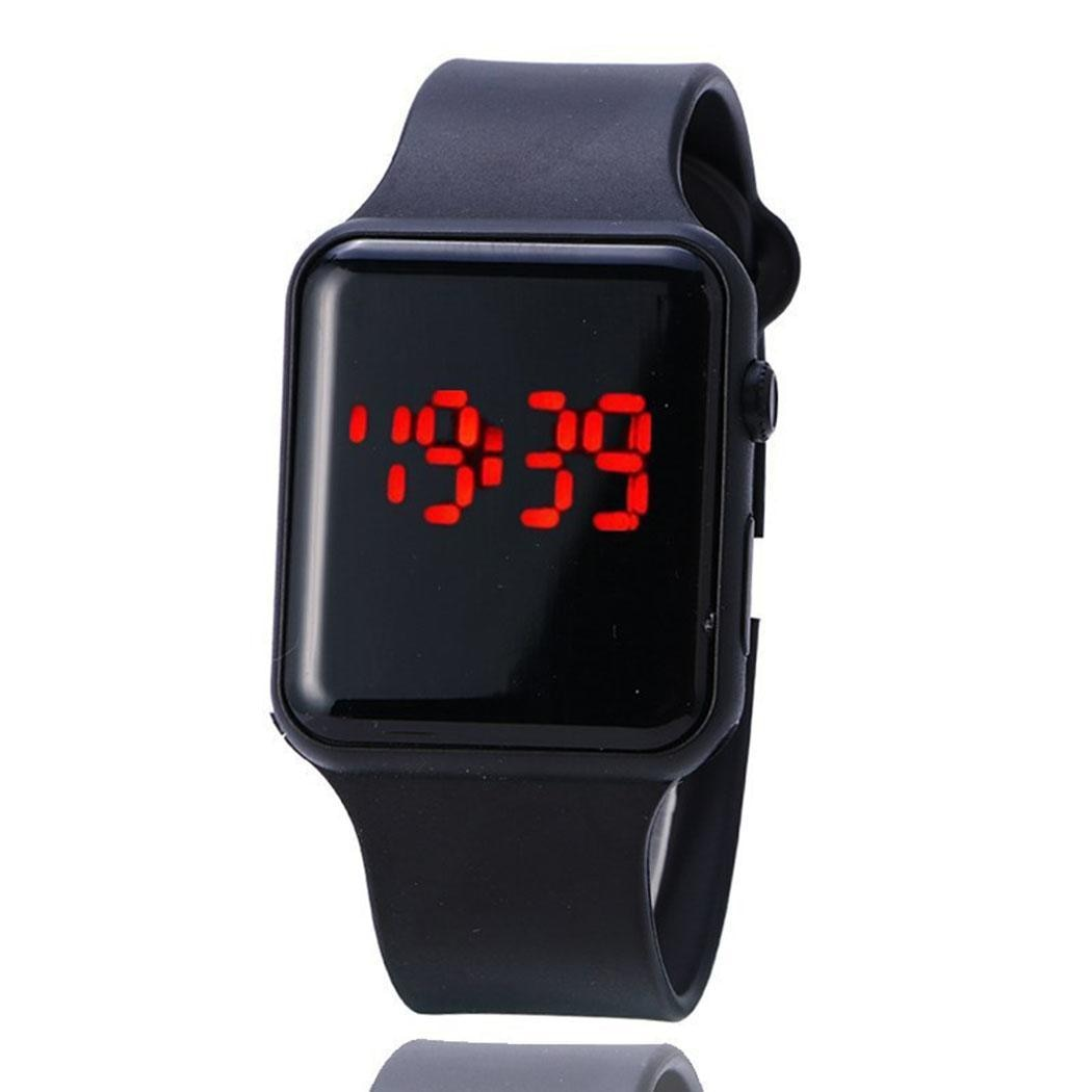 Watches Digital Watches Useful Fanala Watch Men Fashion Digital Sporting Square Buckle Unisex Wrist Led Watches Men Clock Masculino Women Watches Reloj Mujer