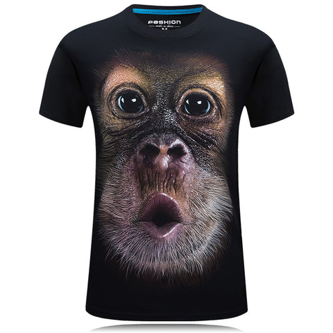 2018 summer Men's 3D Digital Printed T shirt