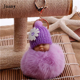 Fake Fur Pom Pom Key Chain