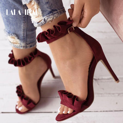 LALA IKAI Buckle Strap High Heels Sandals