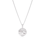 Isla Circle Necklace Silver