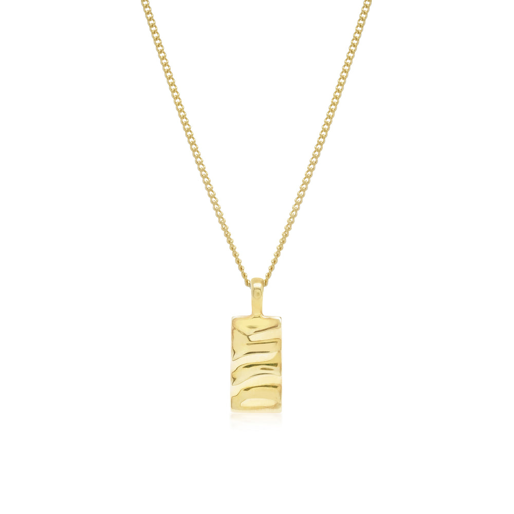 Isla Rectangle Necklace Gold