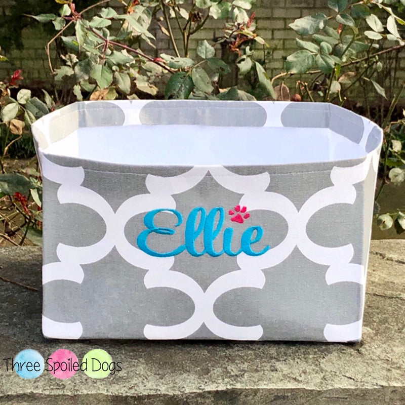 Personalized Toy Basket from our Farmhouse Buffalo Plaid Collection