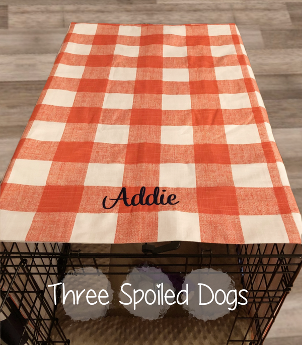 Farmhouse Crate Covers Personalized Buffalo Plaid