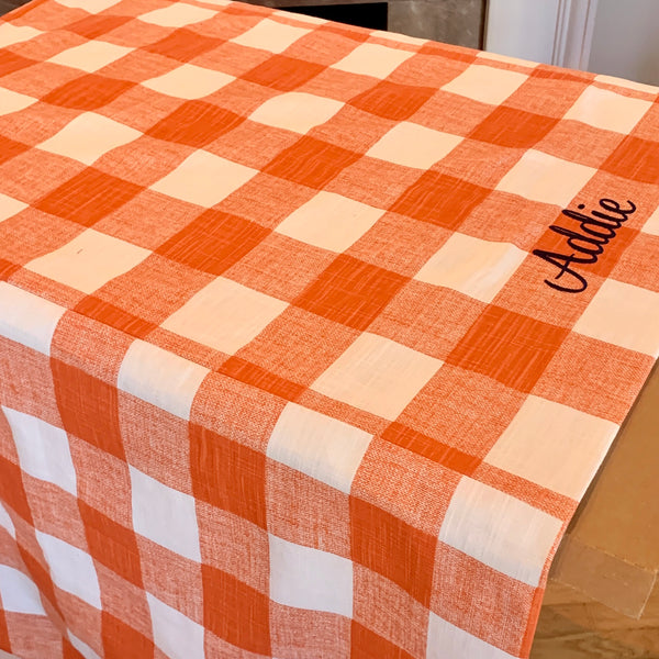 Farmhouse Crate Covers Personalized Buffalo Check