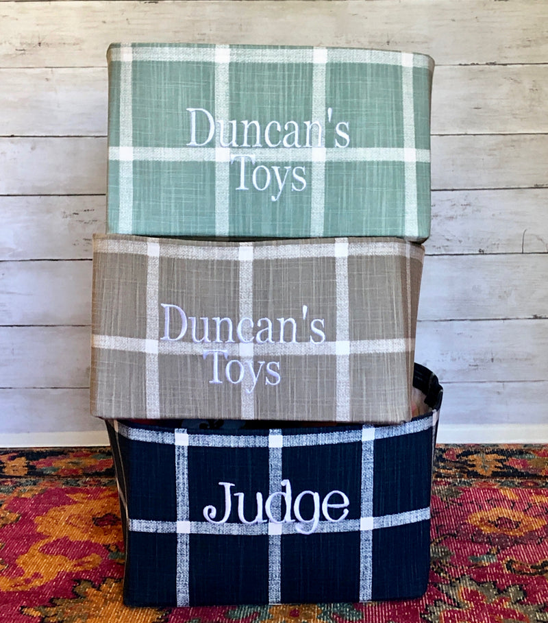 Toy Basket from our Modern Farmhouse Windowpane Collection