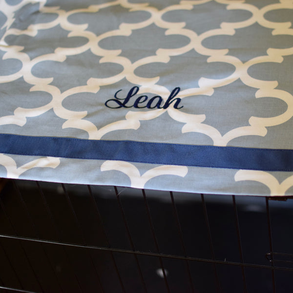 Moroccan Quatrefoil Crate Covers with Pets Name