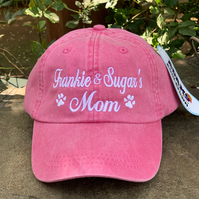 Dog Mom and other Fabulous Customizable Baseball Caps