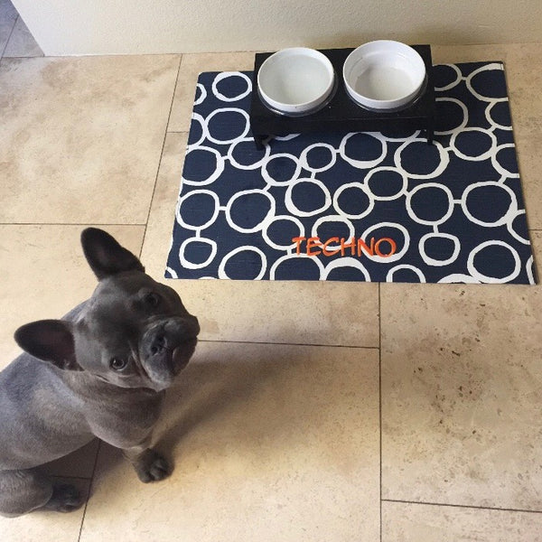 Personalized Pet Placemat from our Modern Circles Collection