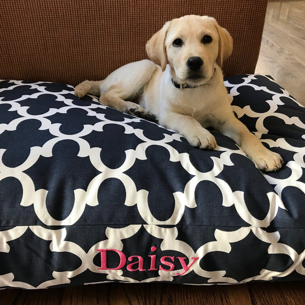 Morrocan Quatrefoil Dog Bed Collection