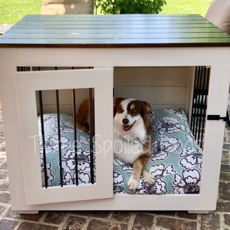 Farmhouse Style Single & Double Wood Dog Kennels