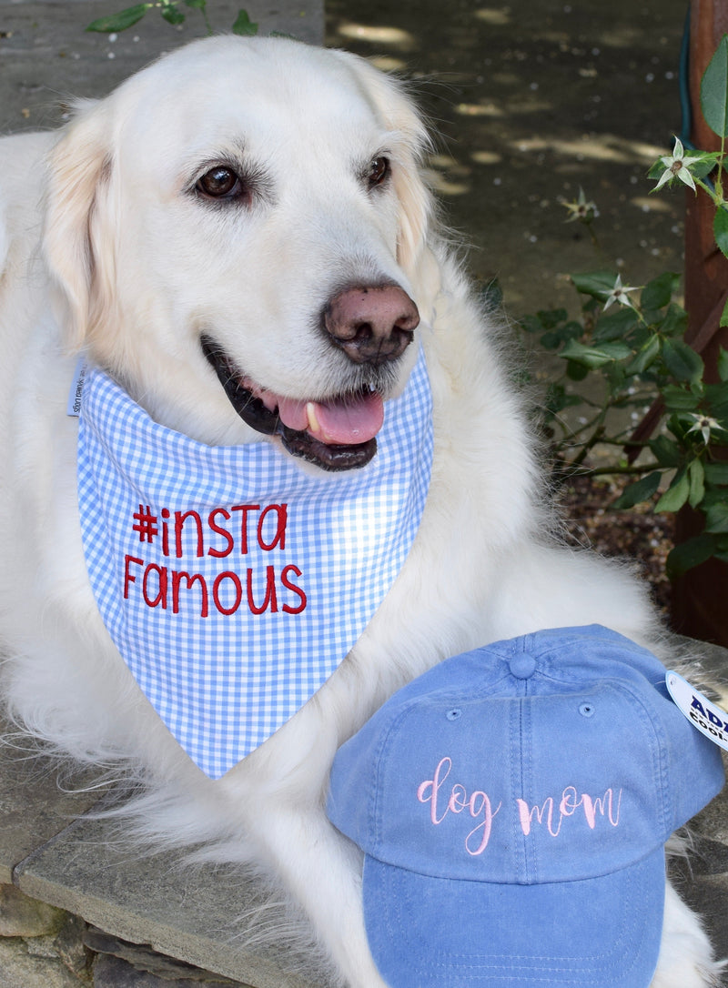 Gingham Dog Bandanas with Personalization