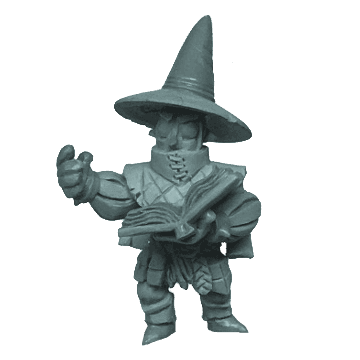Miniature sculpt of the Enchanter from Vast: The Crystal Caverns