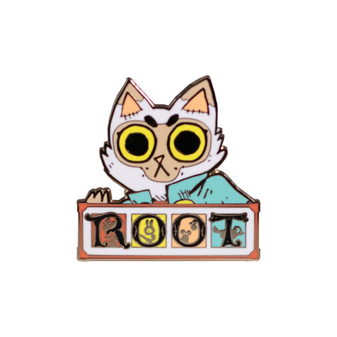 Cat Marquise Root Enamel Pin