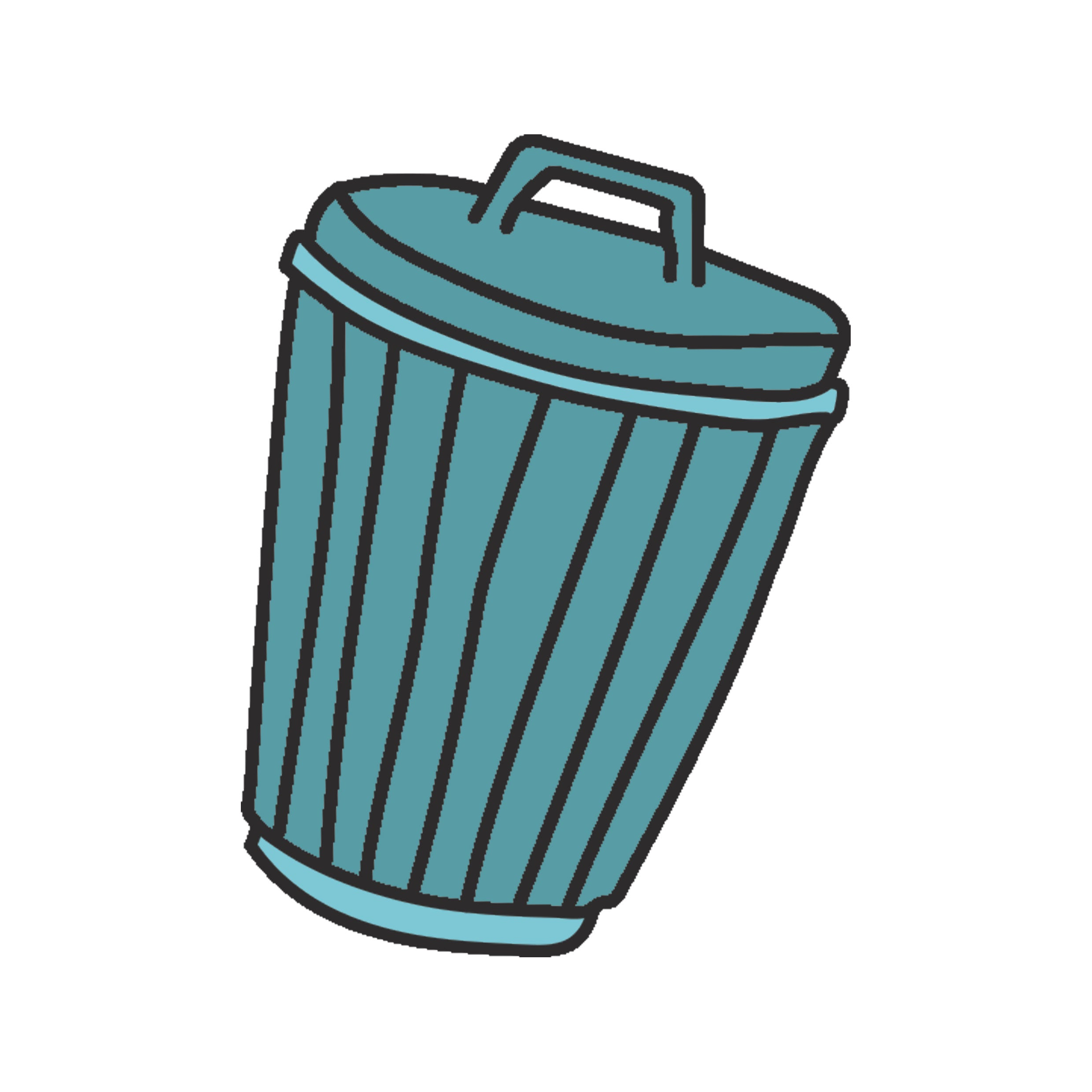 Garbage Can Candy Illustration
