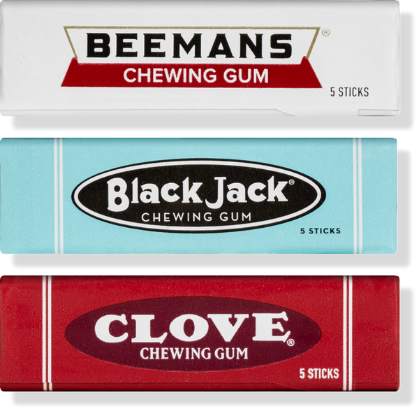 Beemans Black Jack and Clove Gums