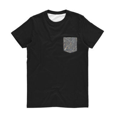 Marble Classic Sublimation Pocket T-Shirt