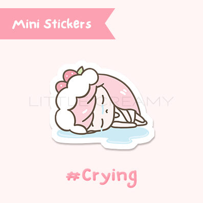 Crying Planner Sticker