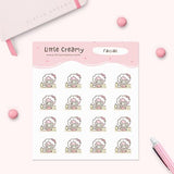 Facial Mask Planner Sticker