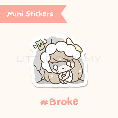 Broke Planner Sticker