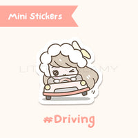 Driving Planner Sticker