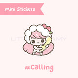 Phone Call Planner Sticker