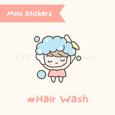 Hair Wash Planner Sticker