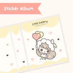 Cute Hand-Drawn Glitter Sticker Album- Banana Creamy