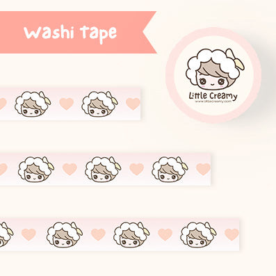 Little Creamy Hand-drawn Washi Tape- Banana Creamy