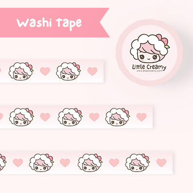 Little Creamy Hand-drawn Washi Tape- Strawberry Creamy