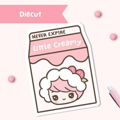 Milk Box Never Expire Diecut - Strawberry Creamy