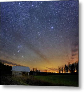 Bright Horizon With Starry Sky - Metal Print