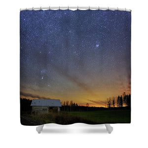 Bright Horizon With Starry Sky - Shower Curtain