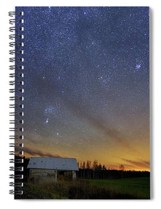 Bright Horizon With Starry Sky - Spiral Notebook