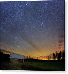 Bright Horizon With Starry Sky - Acrylic Print