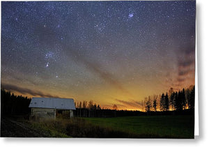 Bright Horizon With Starry Sky - Greeting Card