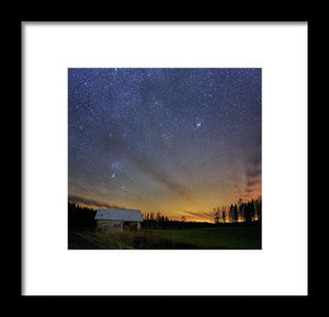 Bright Horizon With Starry Sky - Framed Print