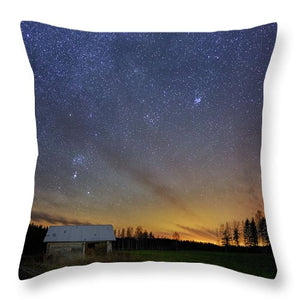 Bright Horizon With Starry Sky - Throw Pillow
