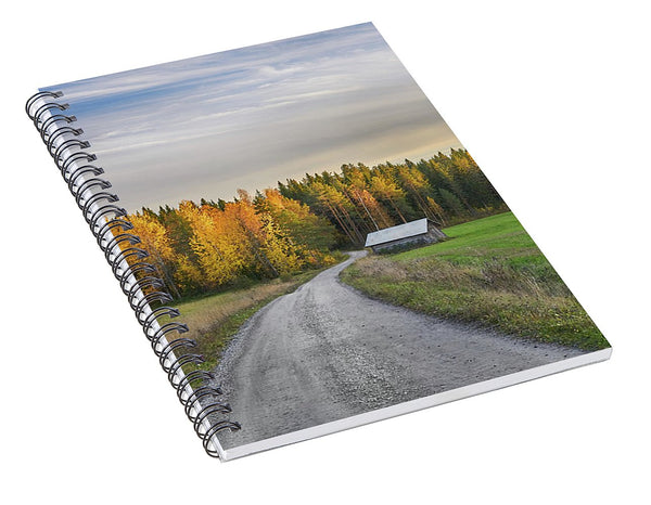 Road To Autumn - Spiral Notebook - Saltiola Experience