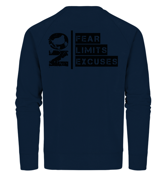 "Ultras Sweater ""ULTRAS FOR REAL"" beidseitig bedrucktes Männer Organic Sweatshirt navy"