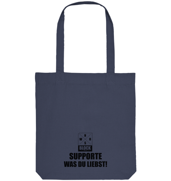 "Ultras Tote-Bag ""ULTRA YOUTH GERMANY"" Organic Baumwolltasche midnight blue"