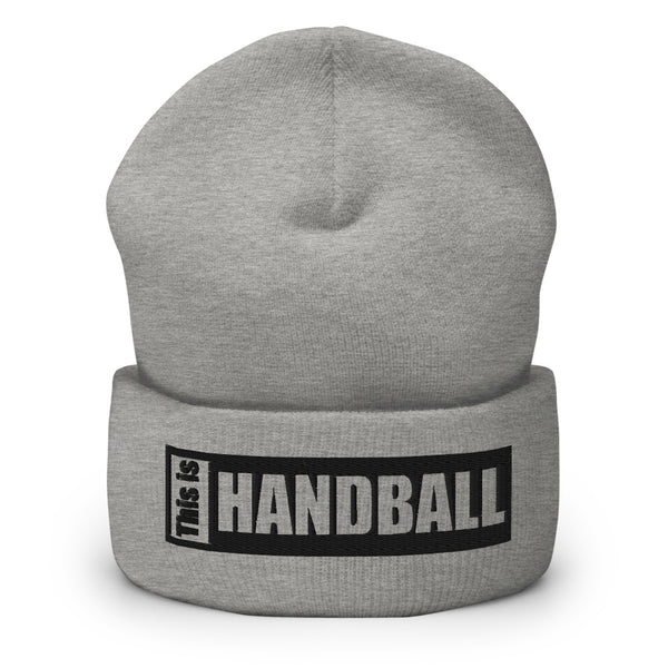 "Teamsport Beanie ""THIS IS HANDBALL"" Mütze mit Bund heather grau"