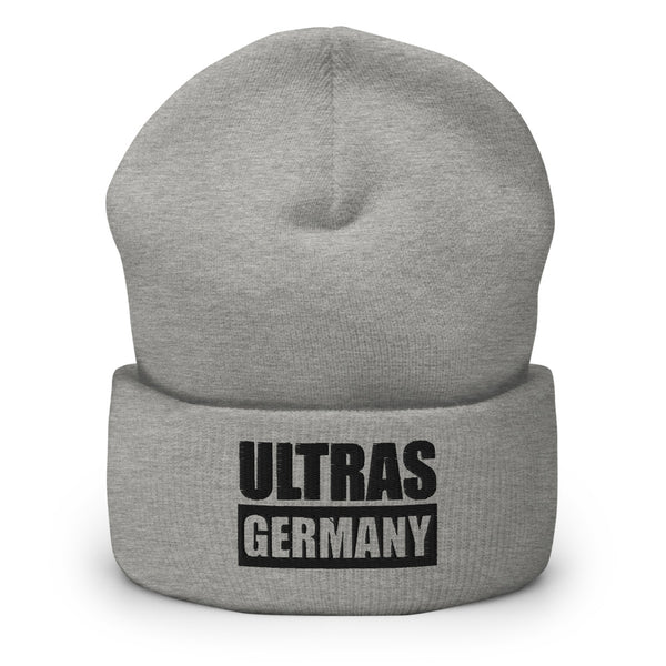 "Ultras Beanie ""ULTRAS GERMANY"" Mütze mit Bund heather grau"