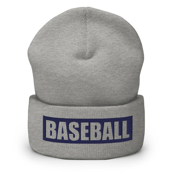 "Teamsport Beanie ""BASEBALL"" Mütze mit Bund heather grau"