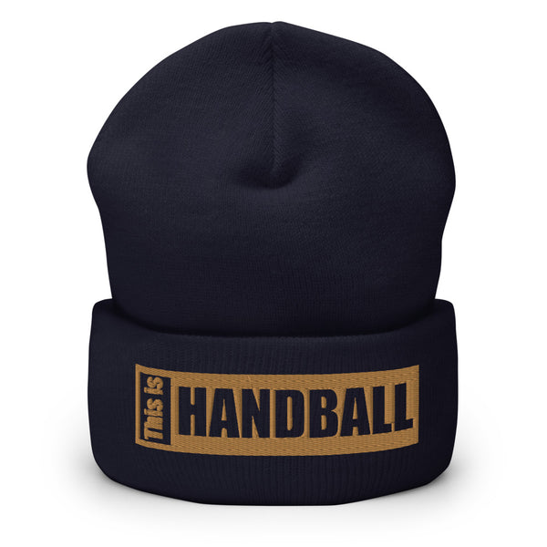"Teamsport Beanie ""THIS IS HANDBALL"" Mütze mit Bund navy"