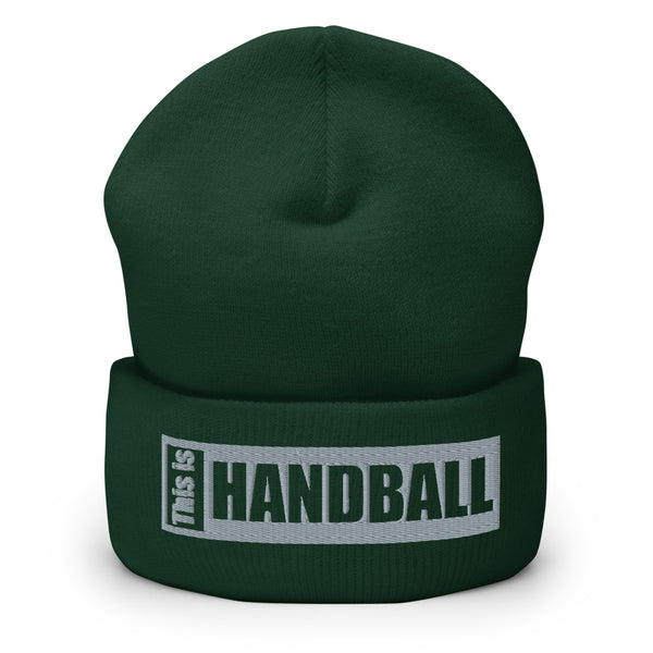 "Teamsport Beanie ""THIS IS HANDBALL"" Mütze mit Bund grün"