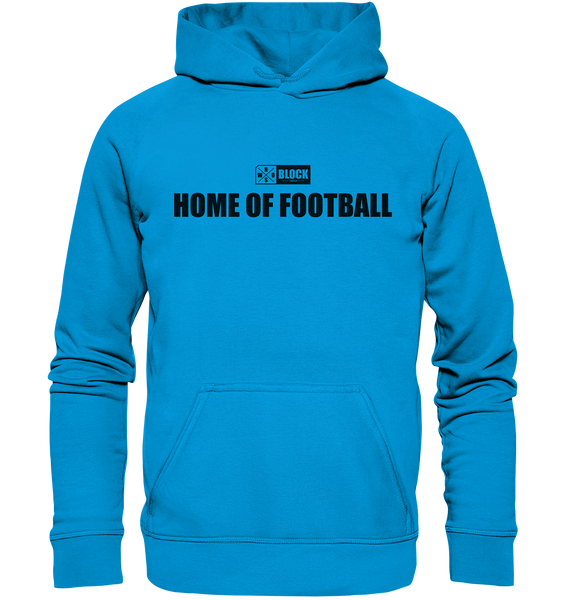 "N.O.S.W. BLOCK Hoodie ""HOME OF FOOTBALL"" Kids UNISEX Kapuzenpullover azurblau"