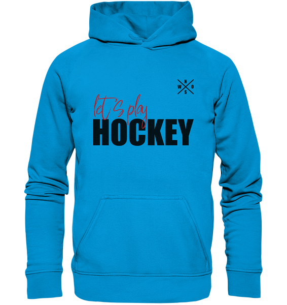 "Teamsport Hoodie ""LET´S PLAY HOCKEY"" Kids UNISEX Kapuzenpullover azur"
