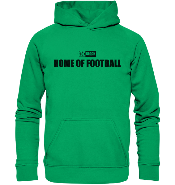 "N.O.S.W. BLOCK Hoodie ""HOME OF FOOTBALL"" Kids UNISEX Kapuzenpullover grün"